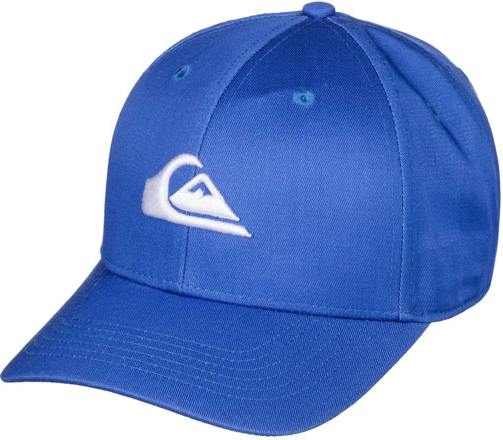 Бейсболка мужская Quiksilver Decades M, цвет: синий. AQYHA03387-BRC0. Размер универсальныйAQYHA03387-BRC0Классическая мужская бейсболка Quiksilver Decades M, изготовленная из полиэстера с добавлением хлопка, идеально подойдет для активного отдыха и обеспечит надежную защиту головы от солнца. Бейсболка имеет перфорацию, обеспечивающую дополнительную вентиляцию. Бейсболка декорирована вышивкой в виде логотипа производителя.Объем изделия регулируется благодаря двумя пластиковым хлястикам с кнопками и перфорацией. Такая бейсболка станет отличным аксессуаром для занятий спортом или дополнит ваш повседневный образ.