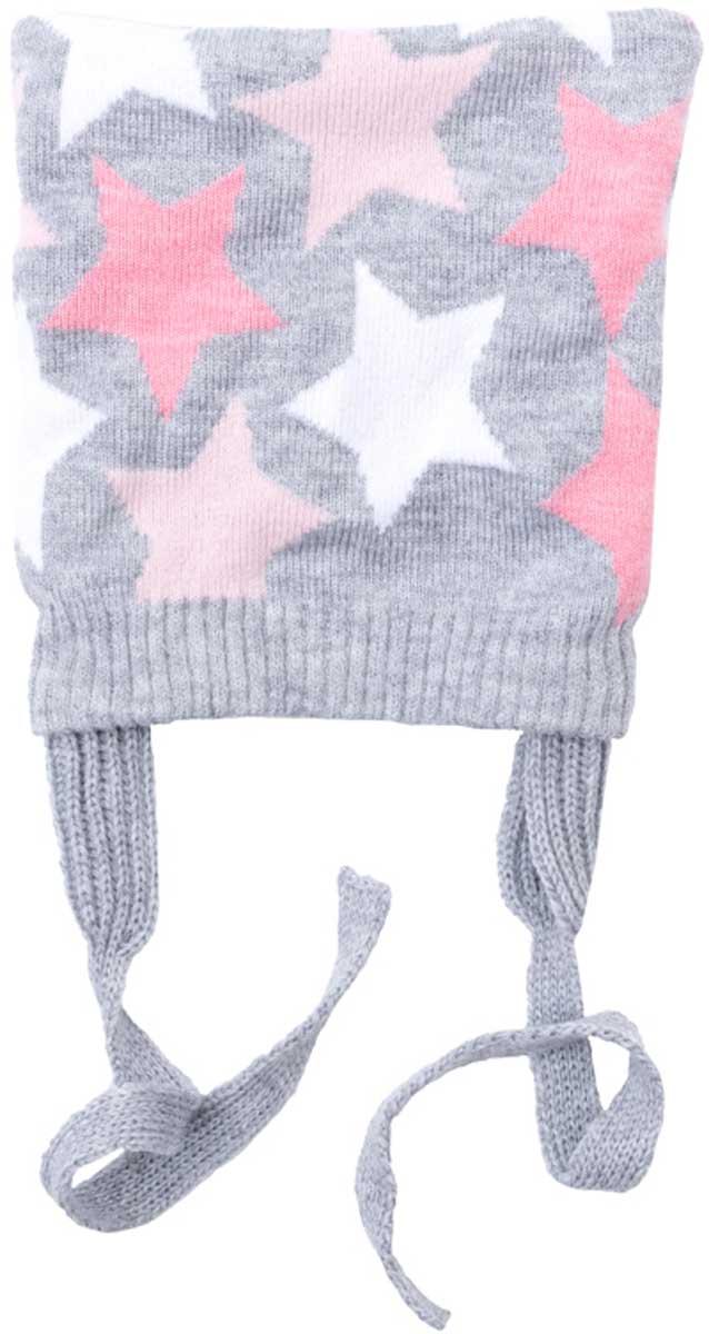 Шапка детская178034Шапка для девочки из трикотажа с подойдет Вашему ребенку для прогулок в прохладную погоду. Модель на завязках, плотно прилегает к голове, комфортна при носке. Необычный крой шанки дает эффект ушекПреимущества: На завязках, плотно прилегает к головеКомфортна при носке