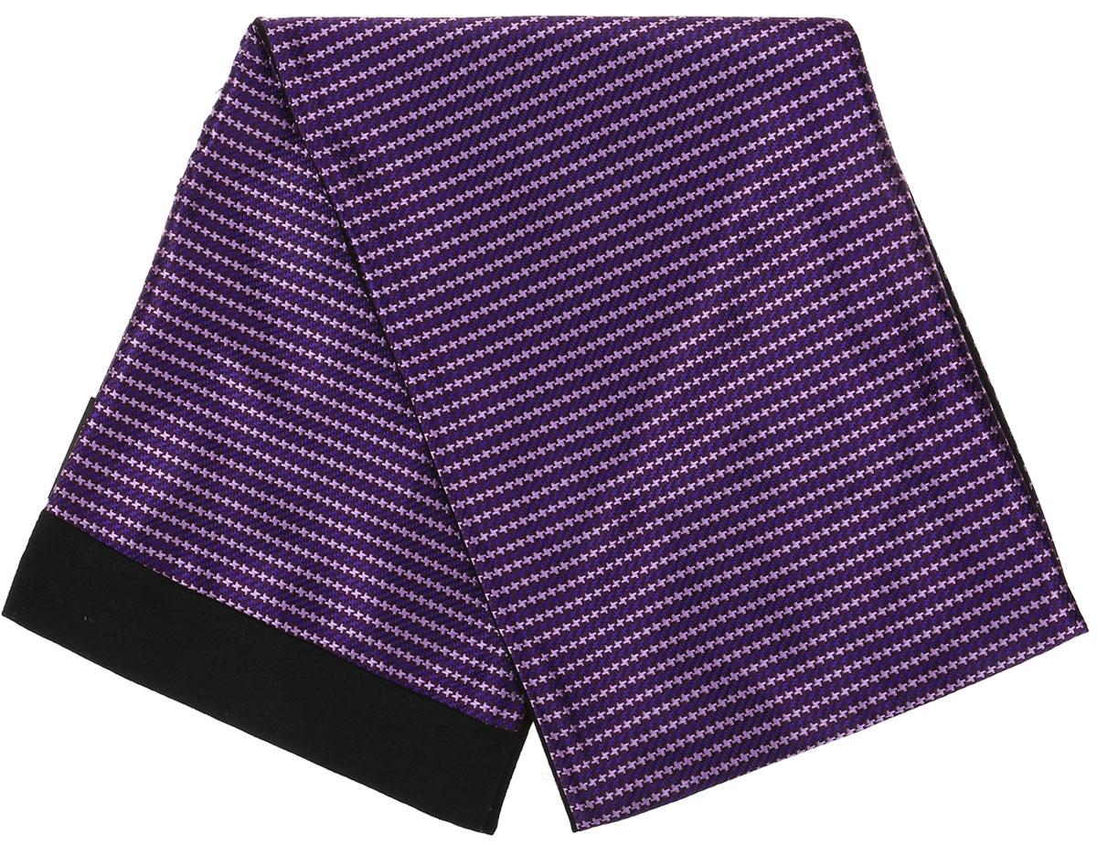 Шарф Vittorio Richi, цвет: фиолетовый, черный. Ro02G100-2981-14. Размер 25 см х 138 смRo02G100-2981-14Стильный шарф Vittorio Richi изготовлен из полиэстера и шелка. Шарф оформлен мелким рисунком. Края и внутренняя сторона выполнены из мягкой однотонной ткани.