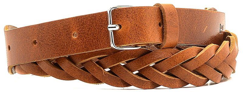 Ремень женский Lee, цвет: коричневый. LP045080. Размер 80LP045080Стильный ремень Lee выполнен из натуральной кожи и оформлен плетением. Пряжка, с помощью которой регулируется длина ремня, выполнена из качественного металла.