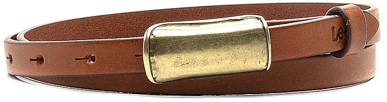 Ремень женский Lee, цвет: коричневый. LP065080. Размер 80LP065080Стильный тонкий ремень Lee выполнен из натуральной кожи. Пряжка, с помощью которой регулируется длина ремня, выполнена из качественного металла.