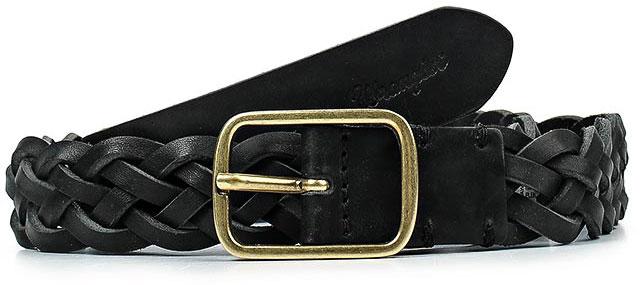 РеменьW0A72U101Стильный ремень Wrangler выполнен из натуральной кожи и оформлен плетением. Пряжка, с помощью которой регулируется длина ремня, выполнена из качественного металла.