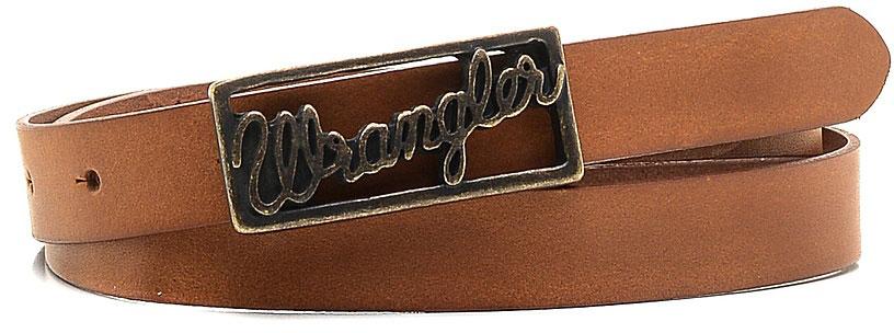 РеменьW0A76US85Стильный ремень Wrangler выполнен из натуральной кожи. Прямоугольная пряжка, с помощью которой регулируется длина ремня, выполнена из металла и оформлена гравированной надписью с названием бренда.