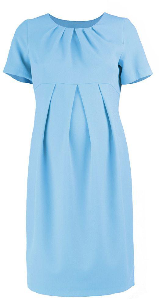 Платье5123512173Платье для беременных Mammy Size классического фасона выполнено из полиэстера. Модель приталенного кроя и выделенное складками на животике.