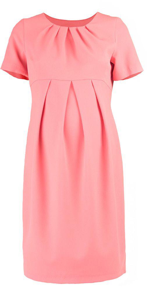 Платье для беременных Mammy Size, цвет: светло-розовый. 5123512177. Размер 465123512177Платье для беременных Mammy Size выполнено из полиэстера. Модель классического фасона, приталенное и выделенное складками на животике.