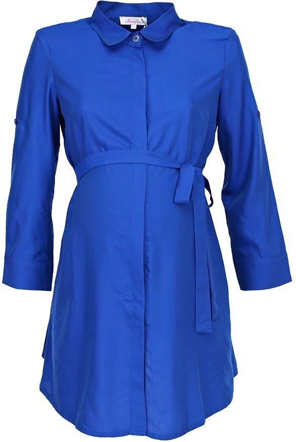 Блузка для беременных Mammy Size, цвет: синий. 3068442173. Размер 463068442173Легкая блузка Mammy Size для беременных и кормящих женщин. Отлично подойдет для работы в офисе.