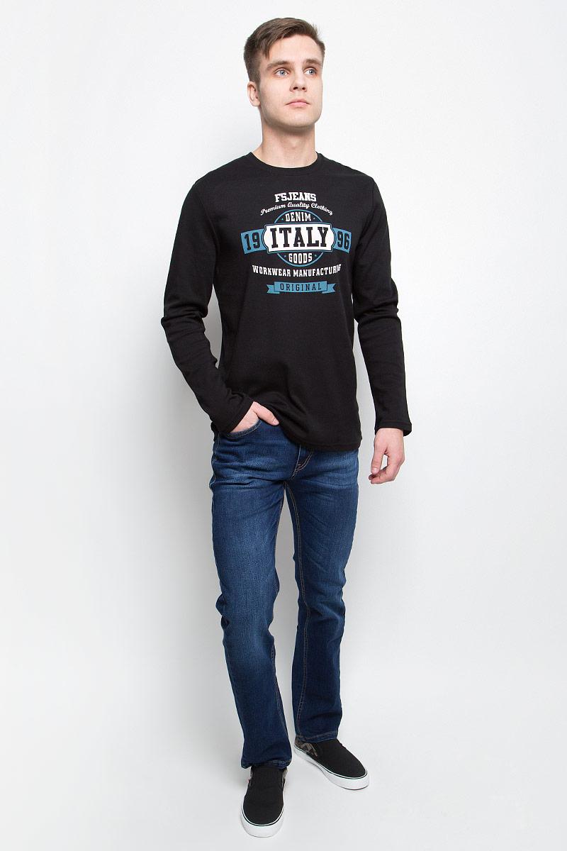 Джинсы мужские F5, цвет: синий. 265125_09348. Размер 40-32 (54/56-32)265125_09348, Blue denim Davils play str., w.mediumМужские джинсы F5 изготовлены из натурального хлопка с добавлением полиэстера и спандекса. Джинсы средней посадки застегиваются на пуговицу в поясе и ширинку на застежке-молнии. На поясе имеются шлевки для ремня. Спереди модель дополнена двумя втачными карманами и одним небольшим накладным кармашком, а сзади - двумя накладными карманами. Модель оформлена эффектом легкой потертости.