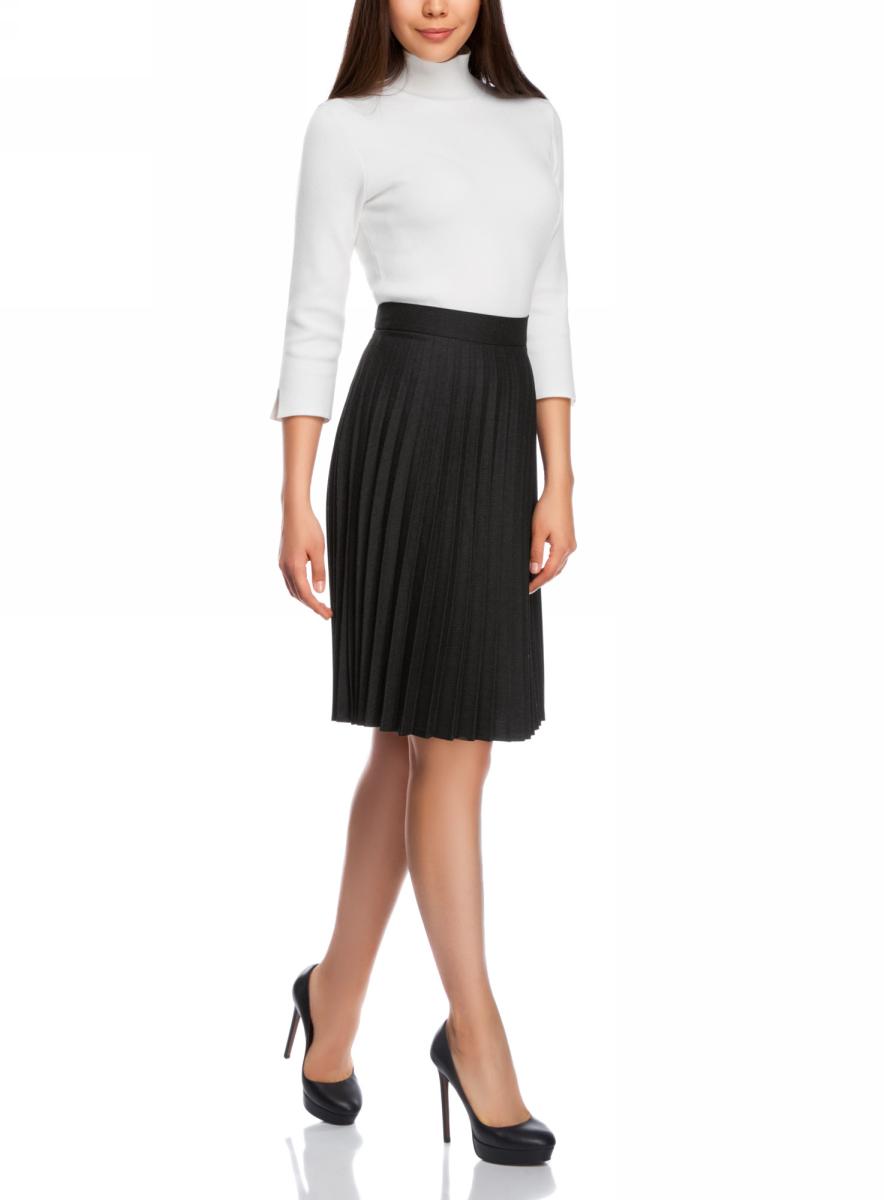 Юбка21606020-1/45710/2523SСтильная удлиненная юбка-гофре выполнена из высококачественного материала. Модель застегивается на потайную застежку-молнию.