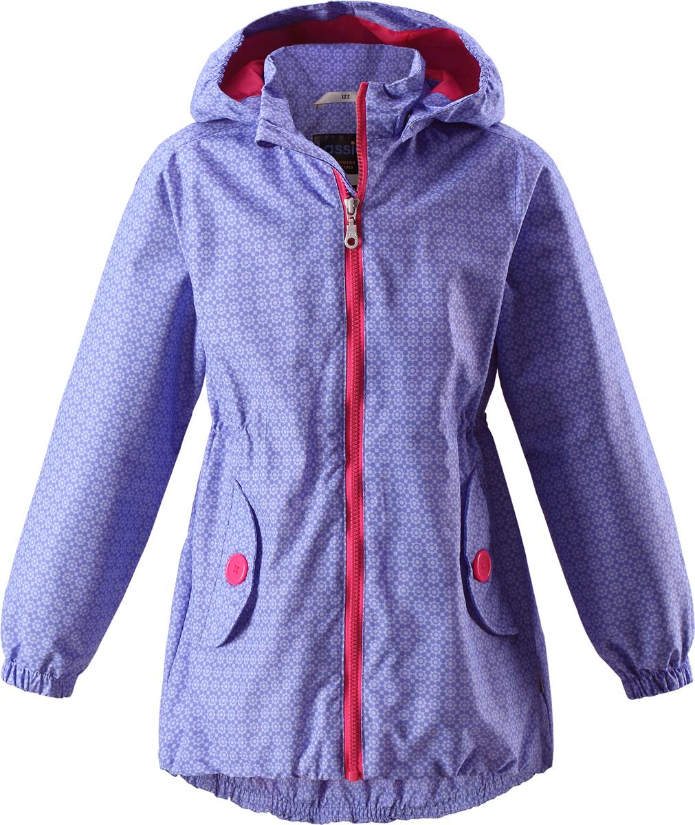 Куртка721706R340Легкая и удобная куртка для девочек на весенне-осенний период. Она изготовлена из водоотталкивающего и ветронепроницаемого материала, но при этом хорошо дышит. Куртка снабжена дышащей и приятной на ощупь сетчатой подкладкой, которая облегчает надевание. Съемный капюшон обеспечивает защиту от холодного ветра, а также безопасен во время игр на свежем воздухе! Благодаря эластичной талии и эластичному подолу эта удлиненная модель для девочек отлично сидит по фигуре. Снабжена множеством продуманных деталей, например двумя карманами с клапанами, эластичными манжетами и молнией во всю длину с защитой для подбородка.