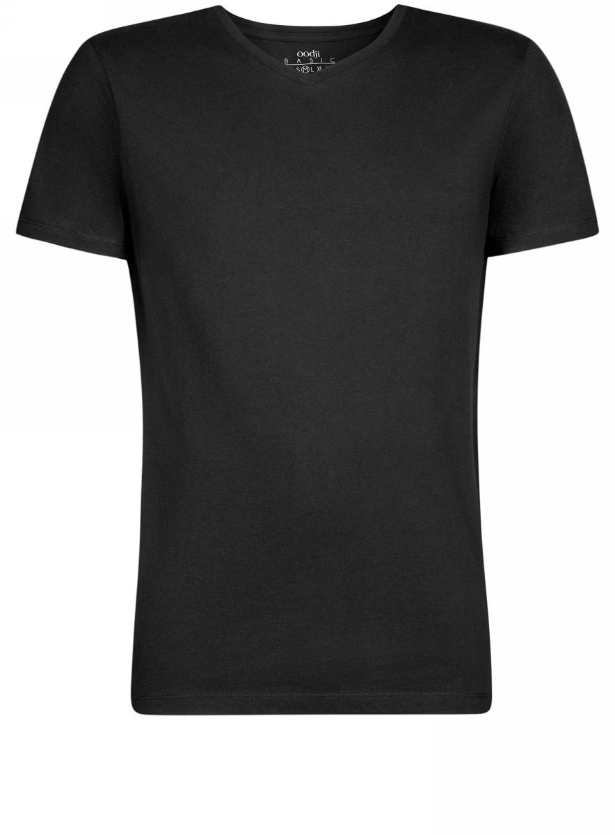 Футболка5B612001M/44135N/1000NБазовая футболка с V-образным вырезом горловины и короткими рукавами выполнена из натурального хлопка.