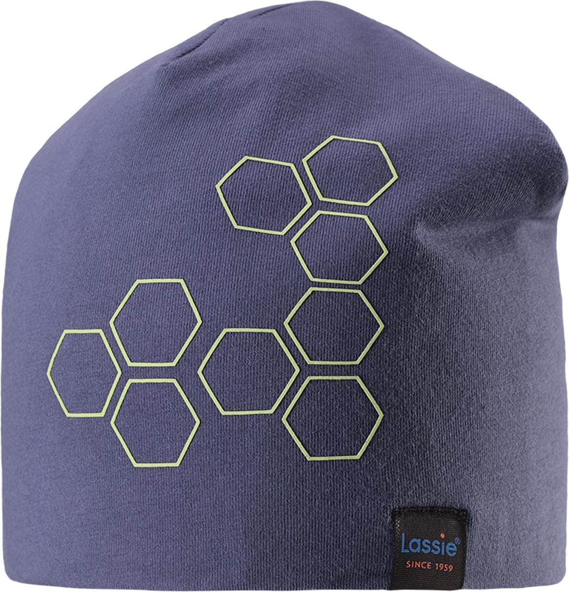 Шапка детская7287084860Яркая модная шапка сделана из легкого и удобного джерси. Полная подкладка из мягкого и теплого флиса и ветронепроницаемые вставки в области ушей хорошо согревают голову.