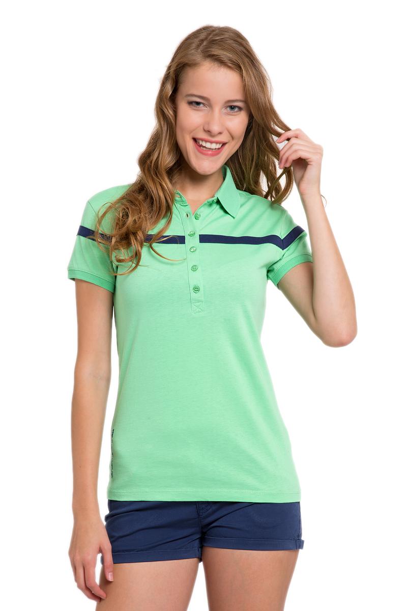ПолоG082CS011P10I3041Стильная футболка-поло с короткими рукавами и отложным воротником выполнена из натурального хлопка. На груди модель застегивается на пуговицы.