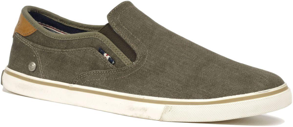 Слипоны мужские Wrangler Mitos Slip On, цвет: хаки. WM171022-20. Размер 44WM171022-20Стильные мужские слипоны Mitos Slip On от Wrangler выполнены из текстиля. Подкладка и стелька из текстиля комфортны при движении. Эластичные вставки по бокам обеспечивают идеальную посадку модели на ноге. Подошва дополнена рифлением.