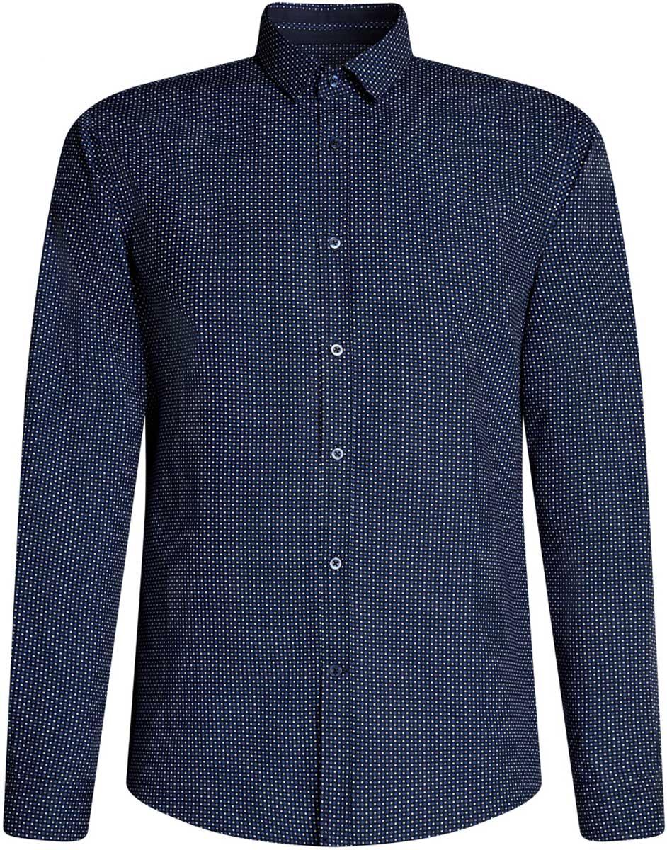Рубашка3L110246M/19370N/7975GРубашка приталенная с графичным принтом