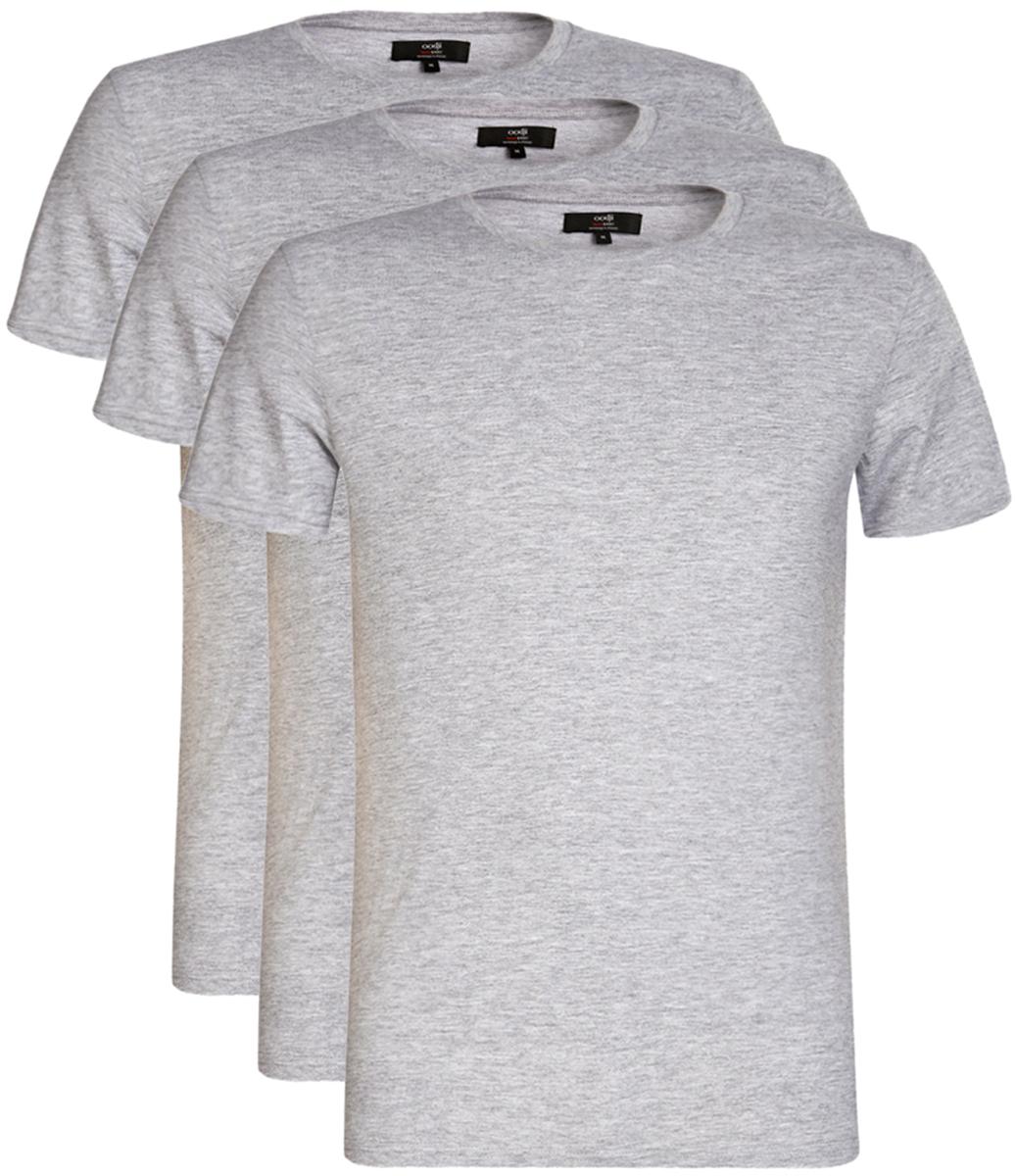 Футболка5B621002T3/44135N/4D00NМужская футболка oodji Basic изготовлена из высококачественного натурального хлопка. Модель с короткими рукавами и круглым вырезом горловины дополнена эластичной вставкой в цвет изделия по горловине. В комплекте 3 футболки.