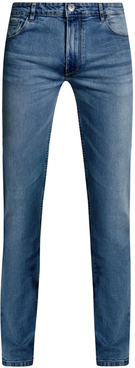 Джинсы6B120049M/45594/7000WМужские джинсы oodji Basic выполнены из высококачественного материала. Модель-слим средней посадки по поясу застегивается на пуговицу и имеют ширинку на застежке-молнии, а также шлевки для ремня. Джинсы имеют классический пятикарманный крой: спереди - два втачных кармана и один маленький накладной, а сзади - два накладных кармана.