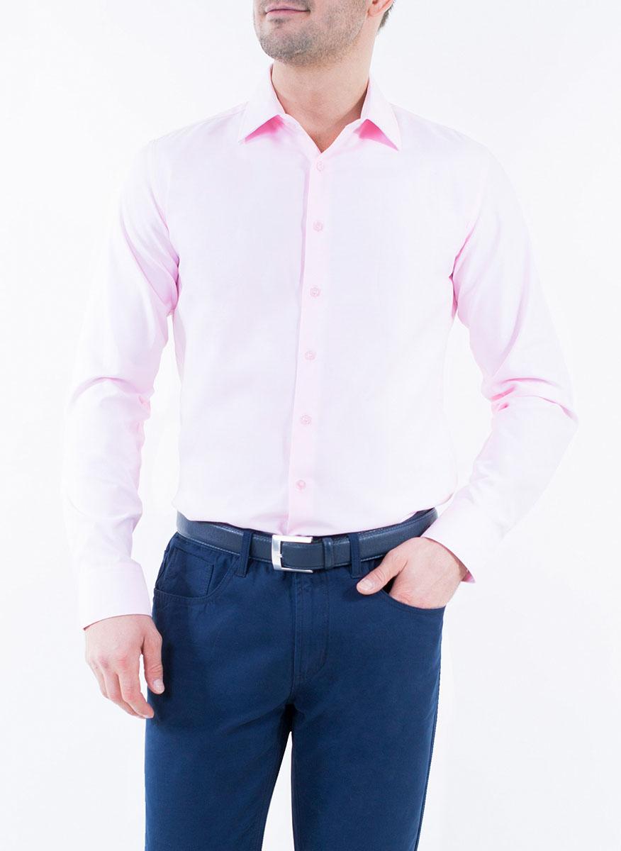 Рубашка мужская Greg Horman, цвет: светло-фиолетовый. 2-171-20-1370. Размер 42 (50)2-171-20-1370Мужская рубашка Greg Horman выполнена из хлопка с добавлением полиэстера. Модель полуприталенного силуэта с отложным воротником и длинными рукавами застегивается по всей длине на пуговицы, украшенные символикой бренда. Манжеты рукавов также застегиваются на пуговицы. Удобный крой, выверенный силуэт и безупречное исполнение делает эту рубашку уникальным решением для стильных образов и незаменимым атрибутом мужского гардероба.