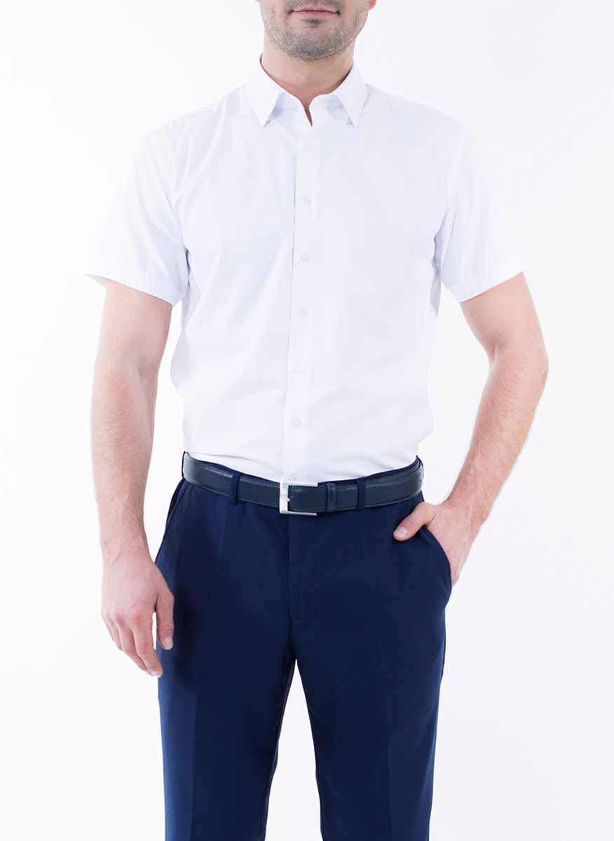 Рубашка мужская Greg Horman, цвет: белый. 2-171-20-1469. Размер 38 (44/46)2-171-20-1469Мужская рубашка Greg Horman выполнена из хлопка с добавлением полиэстера. Модель полуприталенного силуэта с отложным воротником и короткими рукавами застегивается по всей длине на пуговицы, оформленные символикой бренда. Удобный крой, выверенный силуэт и безупречное исполнение делает эту рубашку уникальным решением для стильных образов и незаменимым атрибутом мужского гардероба.