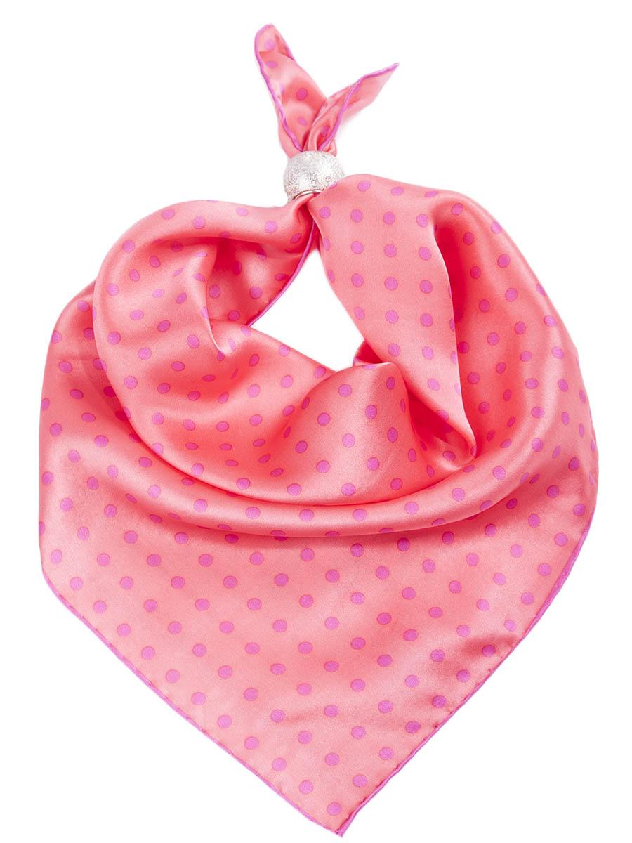 Платок Venera, цвет: коралловый, розовый. 5601541-3. Размер 53 см х 53 см5601541-3Платок Venera выполнен из 100% шелка. Материал мягкий, гладкий и приятный на ощупь. Модель дополнена принтом в горошек. Отличный выбор для повседневного городского образа.