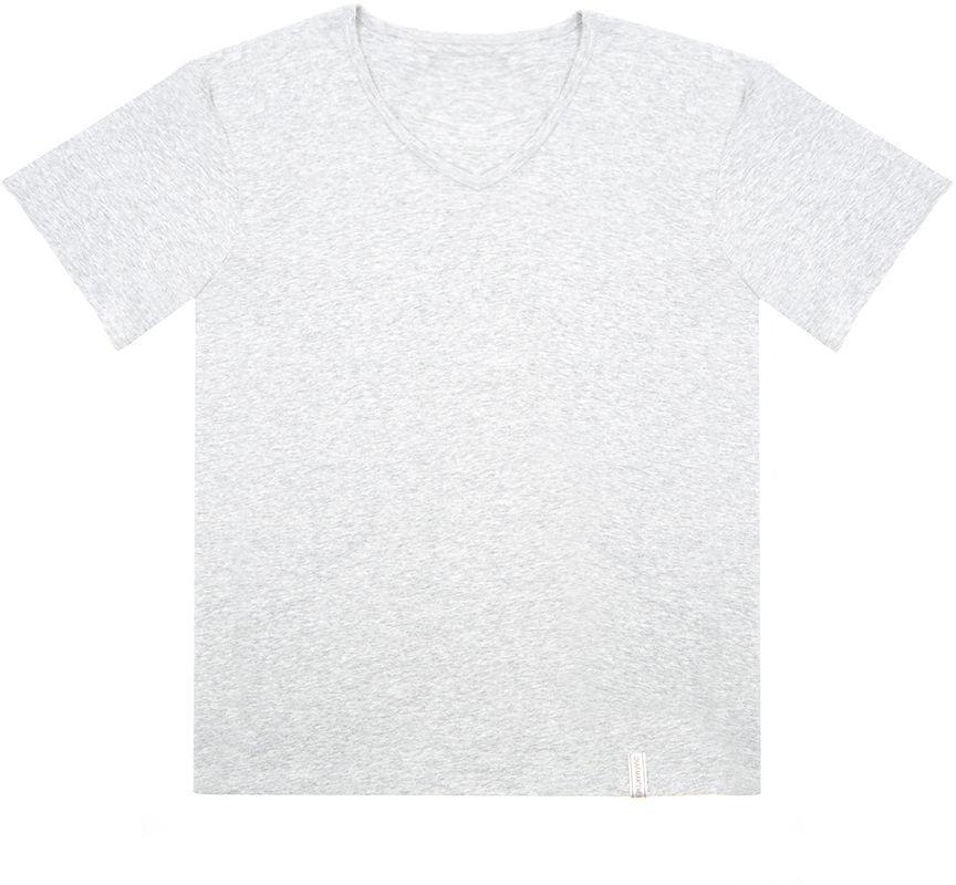 Футболка мужская Charmante, цвет: серый. ISMF 671610C. Размер S (46)ISMF 671610CМужская футболка Charmante выполнена из высококачественного материала. Модель с V-образным вырезом горловины и короткими рукавами.