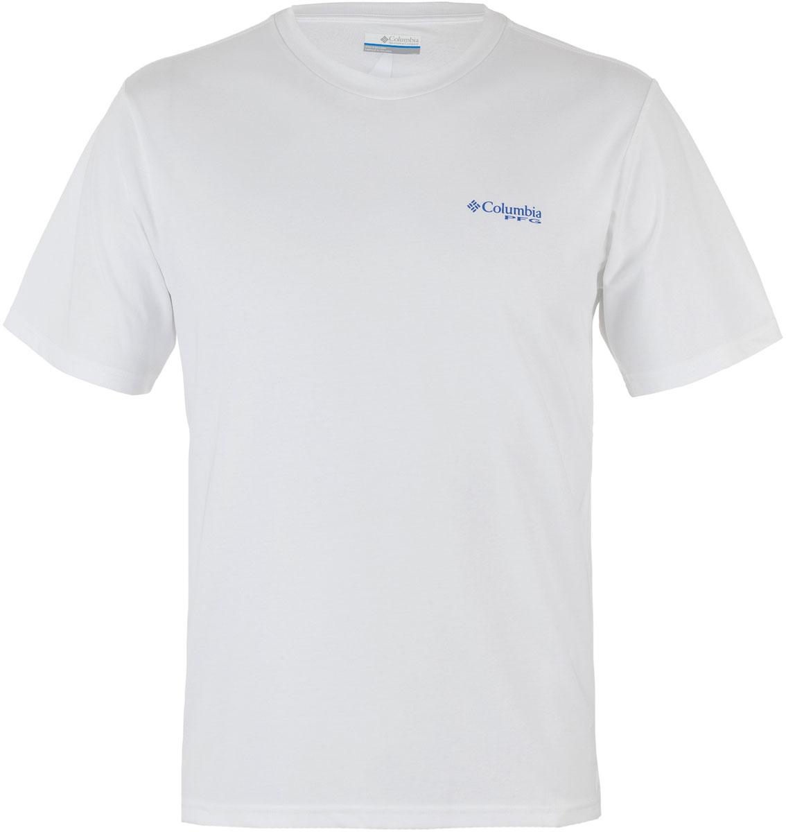 Футболка мужская Columbia PFG Tools Elements SS T-shirt, цвет: белый. 1717221-100. Размер L (48/50)1717221-100Футболка Columbia - оптимальный вариант для активного отдыха и повседневного использования. Модель выполнена из хлопка, что обеспечивает максимально комфортные ощущения во время использования.