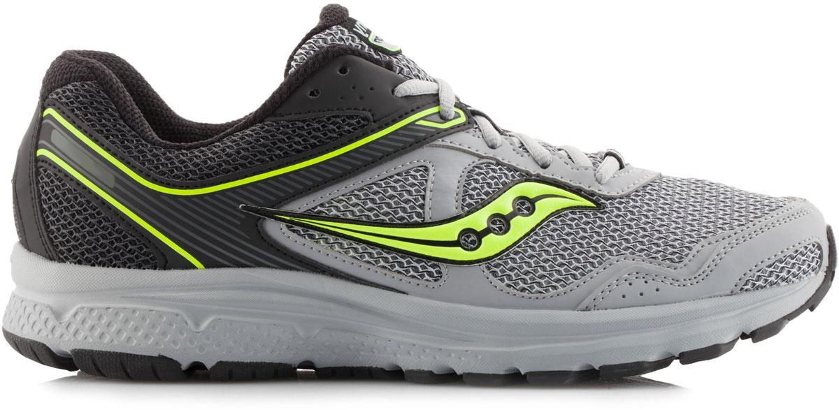 КроссовкиS25333-2Мужские кроссовки Saucony Cohesion 10 - отличный выбор для бега и тренировок. Верх модели выполнен из воздухопроницаемого сетчатого материала, обеспечивающего комфорт и долговечность. Шнуровка надежно фиксирует обувь на ноге и позволяет отрегулировать объем. Технология GRID - вставка в пятке из специального материала, обеспечивает стабильность и амортизацию во время активных тренировок. Рельефная поверхность подошвы из высококачественной резины, создает отличное сцепление, даря уверенность каждому шагу.