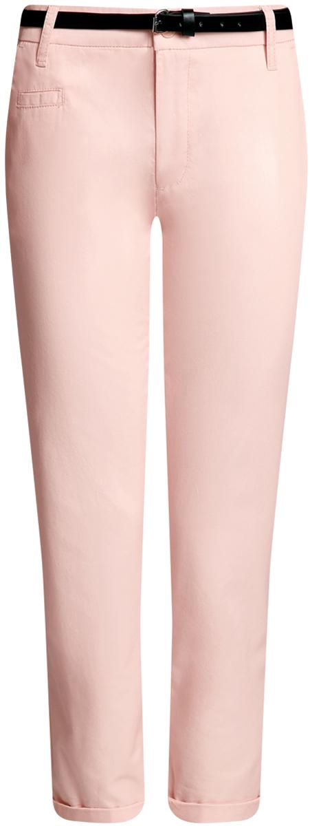 Брюки женские oodji Ultra, цвет: светло-розовый. 11706193B/42841/4000N. Размер 36-170 (42-170)11706193B/42841/4000NЖенские брюки oodji Ultra выполнены из высококачественного материала. Модель-чинос стандартной посадки застегивается на пуговицу в поясе и ширинку на застежке-молнии. Пояс имеет шлевки для ремня. Спереди брюки дополнены втачными карманами, сзади - прорезными на пуговицах. К модели прилагается ремешок.