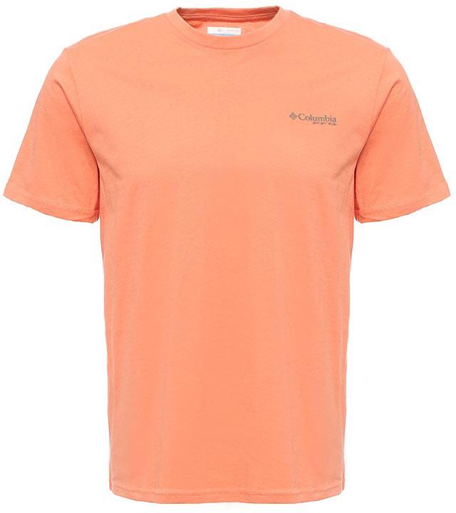 Футболка мужская Columbia PFG Tools Elements SS T-shirt, цвет: оранжевый. 1717221-801. Размер S (44/46)1717221-801Футболка Columbia - оптимальный вариант для активного отдыха и повседневного использования. Модель выполнена из хлопка, что обеспечивает максимально комфортные ощущения во время использования.