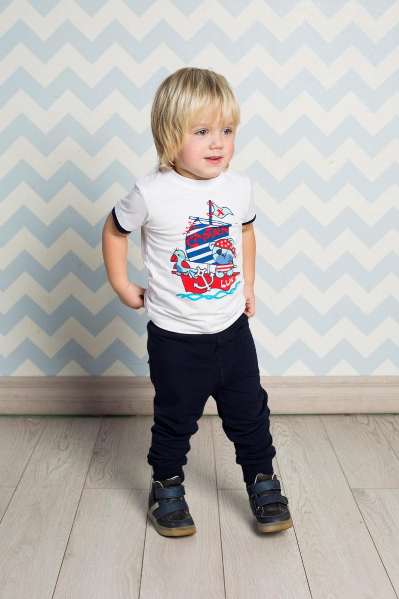 Футболка для мальчика Sweet Berry Baby, цвет: белый. 711073. Размер 86711073Яркая футболка для мальчика Sweet Berry, выполненная из качественного эластичного хлопка, станет отличным дополнением к детскому гардеробу. Модель с круглым вырезом горловины оформлена оригинальным принтом. Воротник дополнен мягкой трикотажной резинкой, рукава - двойным контрастным кантом.
