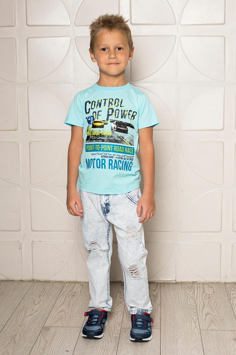 Футболка713093Яркая футболка для мальчика Sweet Berry, выполненная из качественного эластичного хлопка, станет отличным дополнением к детскому гардеробу. Модель с круглым вырезом горловины оформлена оригинальным принтом. Воротник дополнен мягкой трикотажной резинкой.