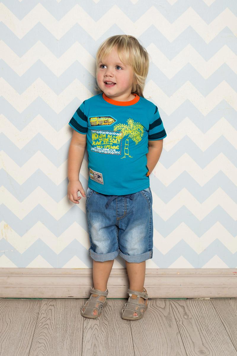Футболка711020Яркая футболка для мальчика Sweet Berry, выполненная из качественного эластичного хлопка, станет отличным дополнением к детскому гардеробу. Полочка выполнена из однотонной ткани с ярким принтом, а спинка - из принтованой в полоску ткани. Воротник дополнен мягкой трикотажной резинкой контрастного цвета.