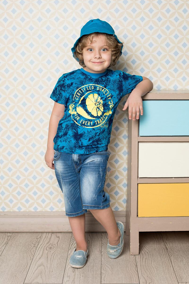 Футболка713042Яркая футболка для мальчика Sweet Berry, выполненная из качественного эластичного хлопка, станет отличным дополнением к детскому гардеробу. Модель с круглым вырезом горловины оформлена оригинальным принтом. Воротник дополнен мягкой трикотажной резинкой.