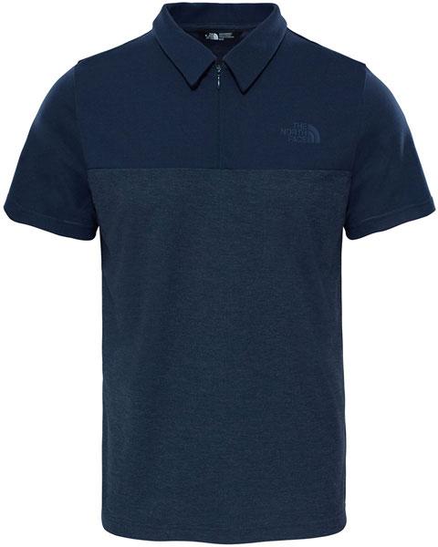 Поло мужское The North Face M S/S Technical Polo, цвет: темно-синий. T0CED3H2G. Размер L (52)T0CED3H2GСовременная стильная вариация классической рубашки-поло. Это рубашка-поло с коротким рукавом с контрастными цветовыми решениями, созданная из дышащей и быстросохнущей ткани. Модель с отложным воротником застегивается на молнию.