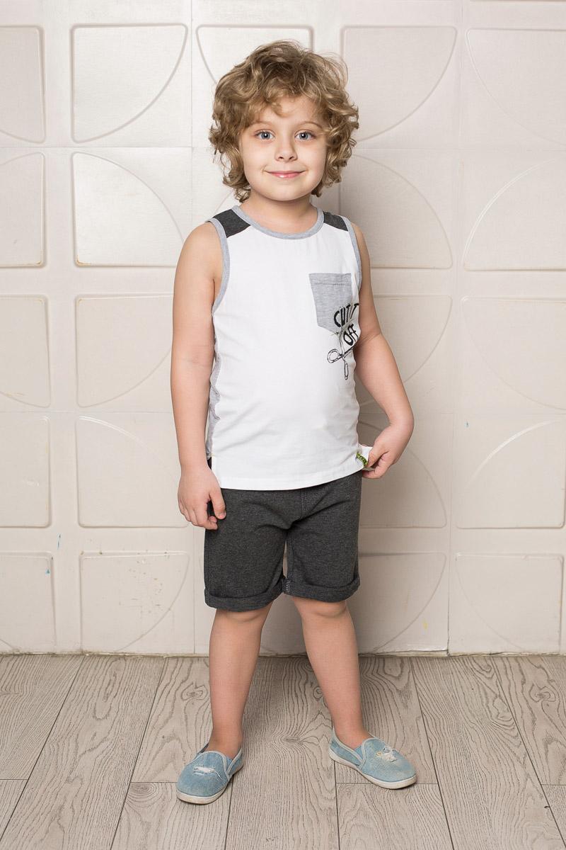Шорты713120Стильные шорты для мальчика Sweet Berry выполнены из мягкого трикотажного материала. Модель с отворотами имеет пояс на мягкой контрастной резинке, дополнительно регулируемый шнурком.