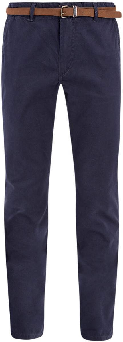 Брюки2B150019M/25735N/3300NМужские брюки oodji Basic выполнены из высококачественного материала. Модель-чинос стандартной посадки застегивается на пуговицу в поясе и ширинку на застежке-молнии. Пояс имеет шлевки для ремня. Спереди брюки дополнены втачными карманами, сзади - прорезными на пуговицах.
