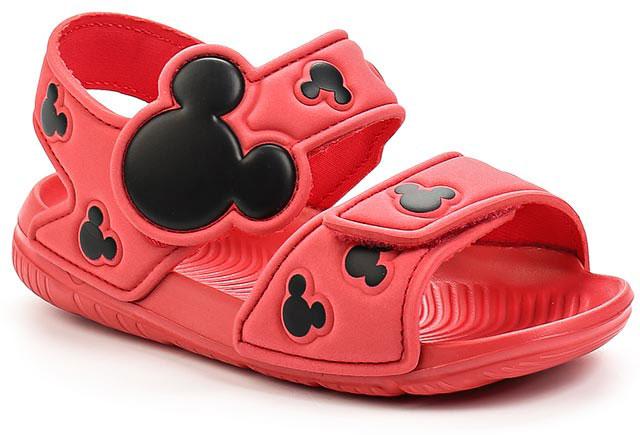 Сандалии для девочки adidas Disney M&M AltaSwim, цвет: розовый, черный. BA9304. Размер 25,5BA9304В этих очаровательных пляжных сандаликах с розовым верхом и принтом в стиле Микки Мауса малышам будет удобно играть у бассейна или на берегу моря. Текстильная подкладка обеспечивает комфорт маленьким ножкам, а мягкие ремешки на липучке облегчают надевание и снимание.