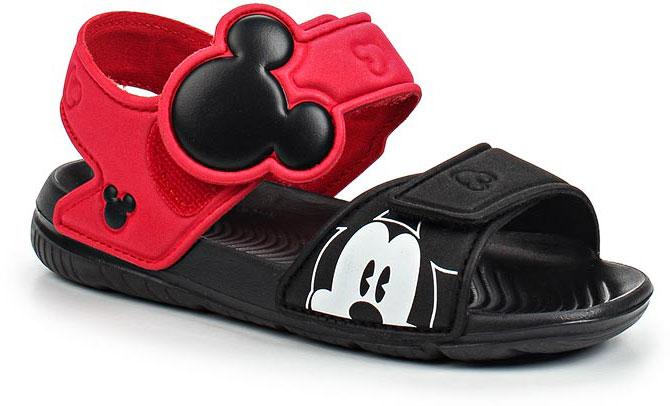 Сандалии для мальчика adidas Disney M&M AltaSwim, цвет: черный, красный. BA9303. Размер 19,5BA9303В этих очаровательных пляжных сандаликах с розовым верхом и принтом в стиле Микки Мауса малышам будет удобно играть у бассейна или на берегу моря. Текстильная подкладка обеспечивает комфорт маленьким ножкам, а мягкие ремешки на липучке облегчают надевание и снимание.