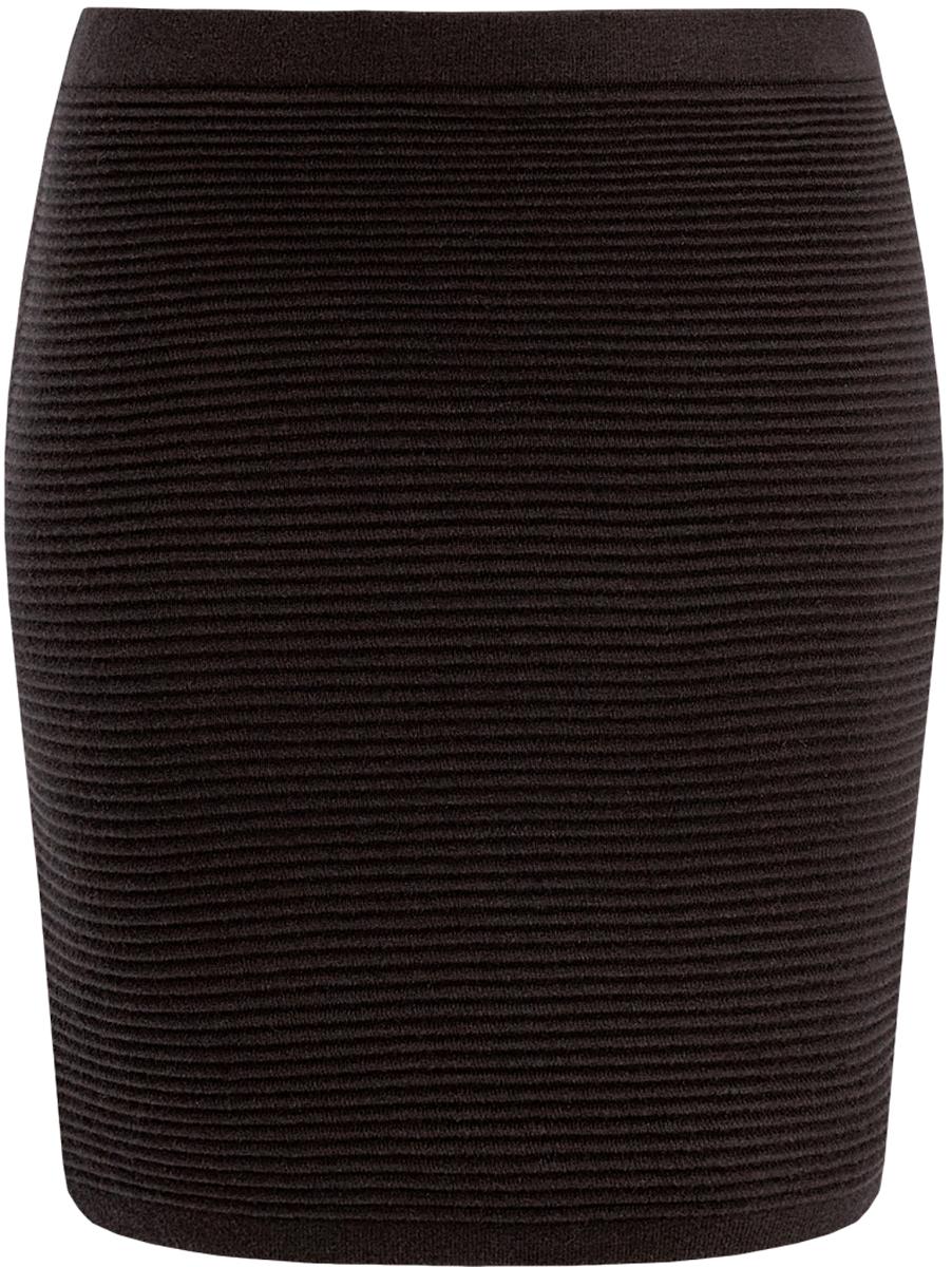 Юбка63612028-1/45429/2900NВязаная мини-юбка в рубчик выполнена из высококачественной пряжи.