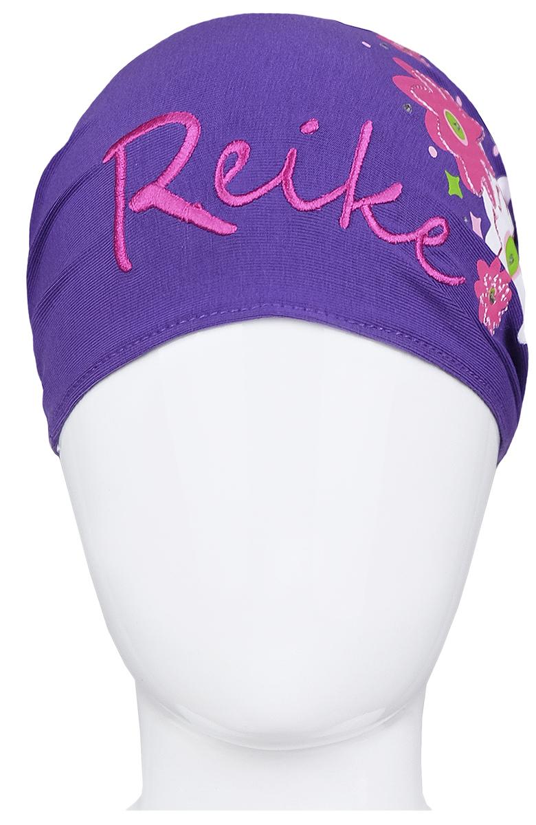 Повязка на голову для девочки Reike Цветок, цвет: фиолетовый. RKNSS17-FLW3. Размер 50RKNSS17-FLW3 purpleПовязка на голову для девочки Reike Цветок, изготовленная из натурального хлопка, отлично подойдет для жаркой погоды или для завершения образа юной модницы. Аксессуар защитит голову от ветра и солнца или возьмет на себя функцию ободка. Модель оформлена принтом в стиле серии и стразами и дополнена мягкой эластичной резинкой для фиксации на голове.Уважаемые клиенты!Размер, доступный для заказа, является обхватом головы.