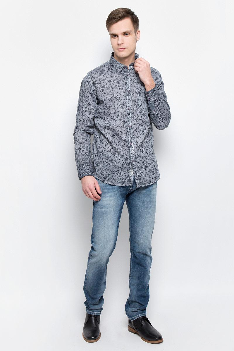 РубашкаDARWIN-5601Мужская рубашка Lee Cooper выполнена из натурального хлопка. Рубашка с длинными рукавами и отложным воротником застегивается на пуговицы спереди. Манжеты рукавов также застегиваются на пуговицы. Рубашка оформлена цветочным принтом. На груди расположен накладной карман.