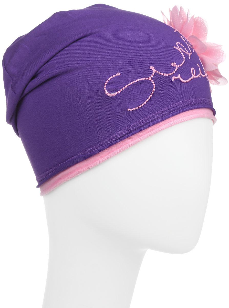 Шапка для девочки Reike Арбуз, цвет: фиолетовый. RKNSS17-WM1. Размер 54RKNSS17-WM1 violetСтильная шапка для девочки Reike Арбуз, изготовленная из качественного материала, отлично впишется в гардероб юной модницы. Модель с имитацией контрастного подклада оформлена эффектным объемным цветком и вышитой надписью Sweet Reike.Уважаемые клиенты!Размер, доступный для заказа, является обхватом головы.