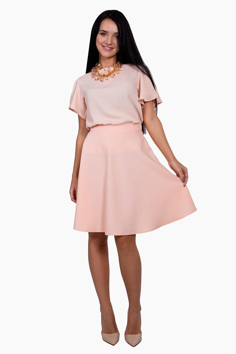 ЮбкаП17-057Элегантная юбка Pavlotti изготовлена из полиэстера с добавлением вискозы и эластана. Модель застегивается на молнию. Юбка-полусолнце длиной до колен подчеркнет талию и создаст идеальный силуэт.