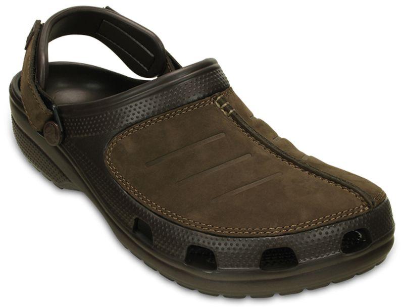 Сабо мужские Crocs Yukon Mesa Clog, цвет: коричневый. 203261-22Z. Размер 12 (44/45 )203261-22ZСабо Crocs придутся вам по душе. Рельефная поверхность верхней части подошвы комфортна при движении. Рифленое основание подошвы гарантирует идеальное сцепление с любой поверхностью. Такие сабо - отличное решение для каждодневного использования!