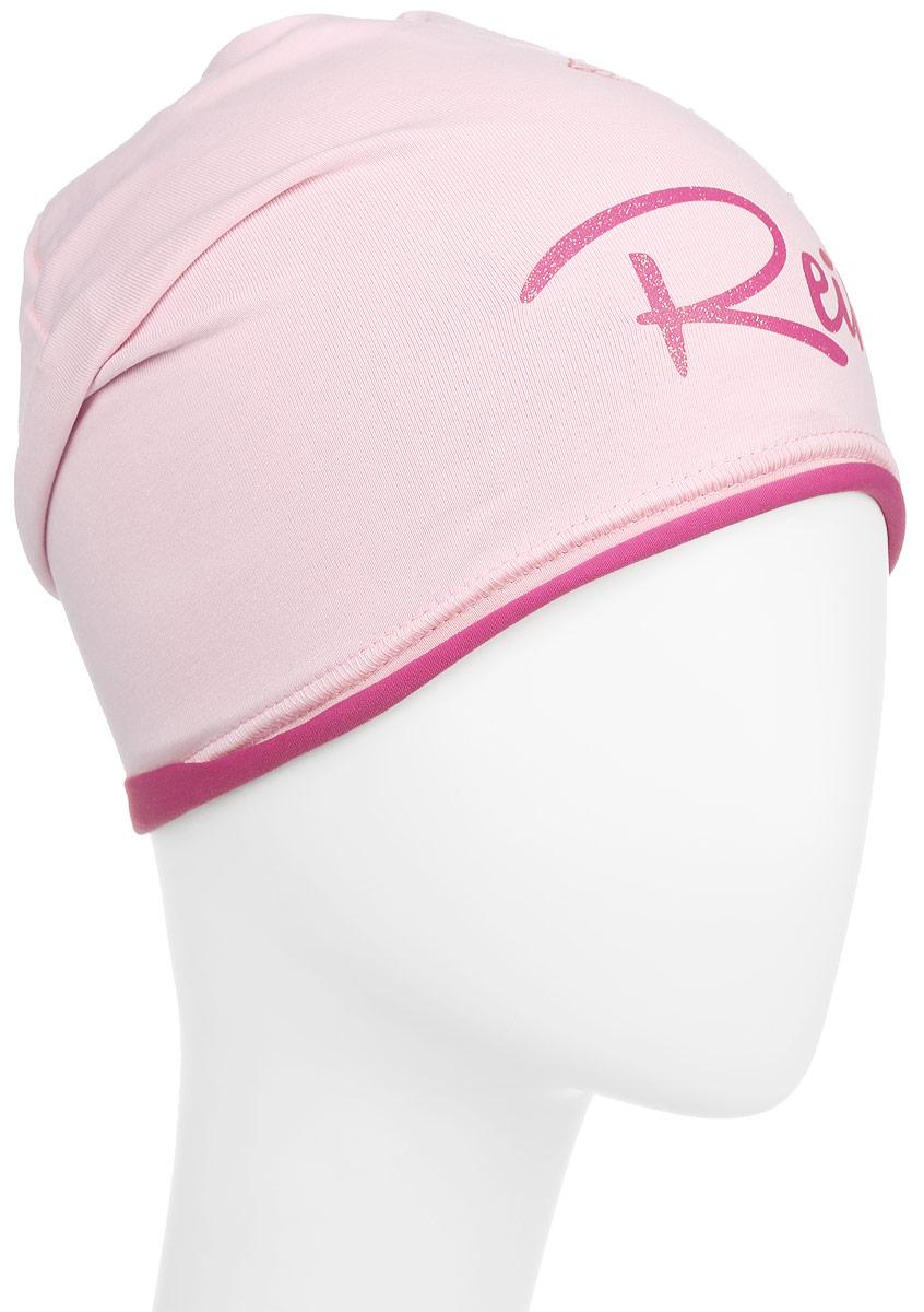 Шапка для девочки Reike Мальва, цвет: розовый. RKNSS17-MAL1. Размер 54RKNSS17-MAL1_pinkСтильная шапка для девочки Reike Мальва, изготовленная из качественного хлопкового материала, отлично впишется в гардероб юной модницы. Модель с контрастным подкладом оформлена цветочным принтом со стразами и блестками в стиле серии. Уважаемые клиенты!Размер, доступный для заказа, является обхватом головы.