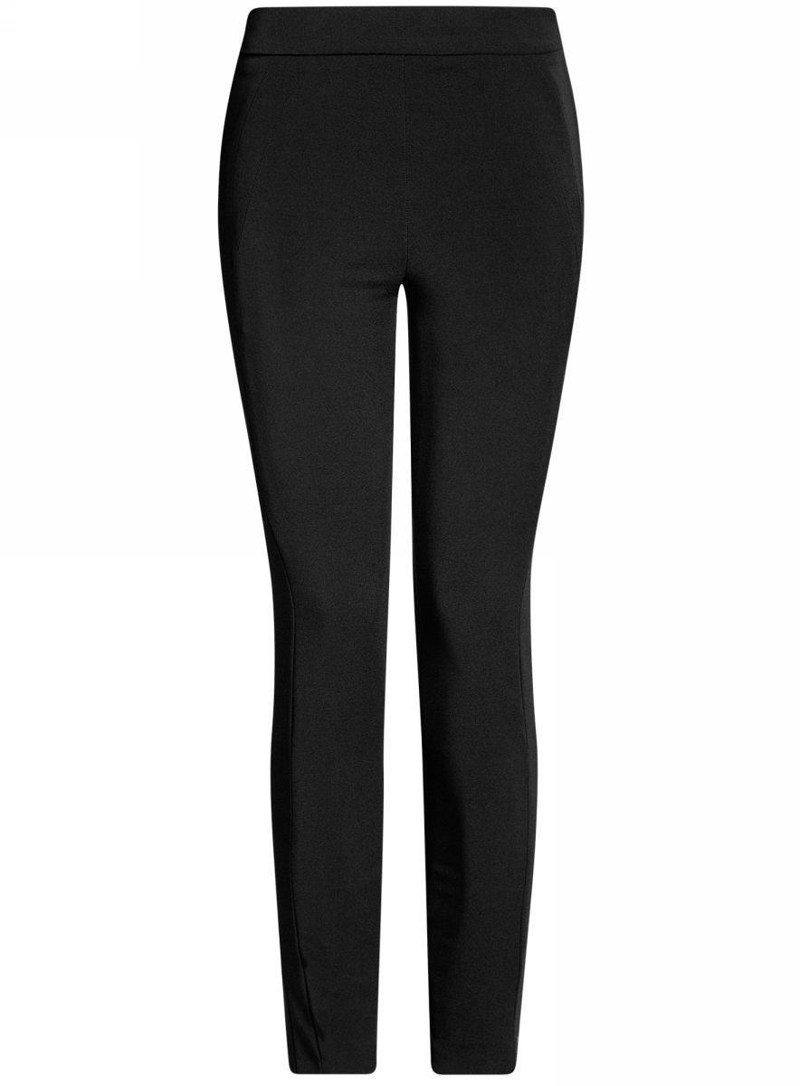 Брюки11707115/46349/2900NЖенские брюки oodji Ultra выполнены из высококачественного материала. Модель стандартной посадки застегивается сбоку на потайную застежке-молнии. Сзади брюки дополнены прорезными карманами.