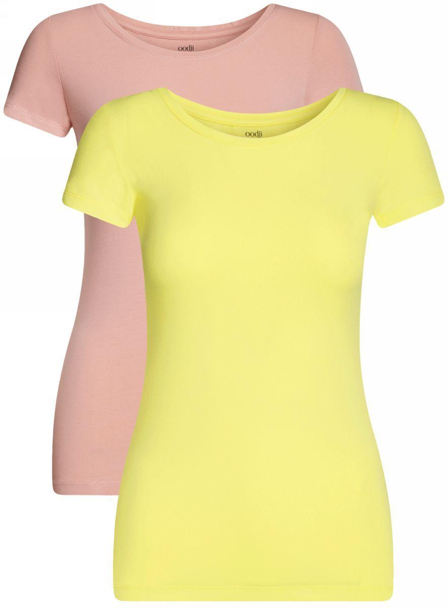 Футболка14701005-7T2/46147/674BNБазовая футболка с круглым вырезом горловины и короткими рукавами выполнена из эластичного хлопка.В комплект входит две футболки.