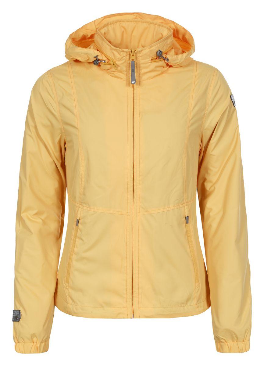 Ветровка753005555IVЖенская куртка Icepeak выполнена из качественного полиэстера. Модель с длинными рукавами застегивается на застежку-молнию. Изделие дополнено капюшоном, убирающимся в карман на воротнике и двумя врезными карманами.