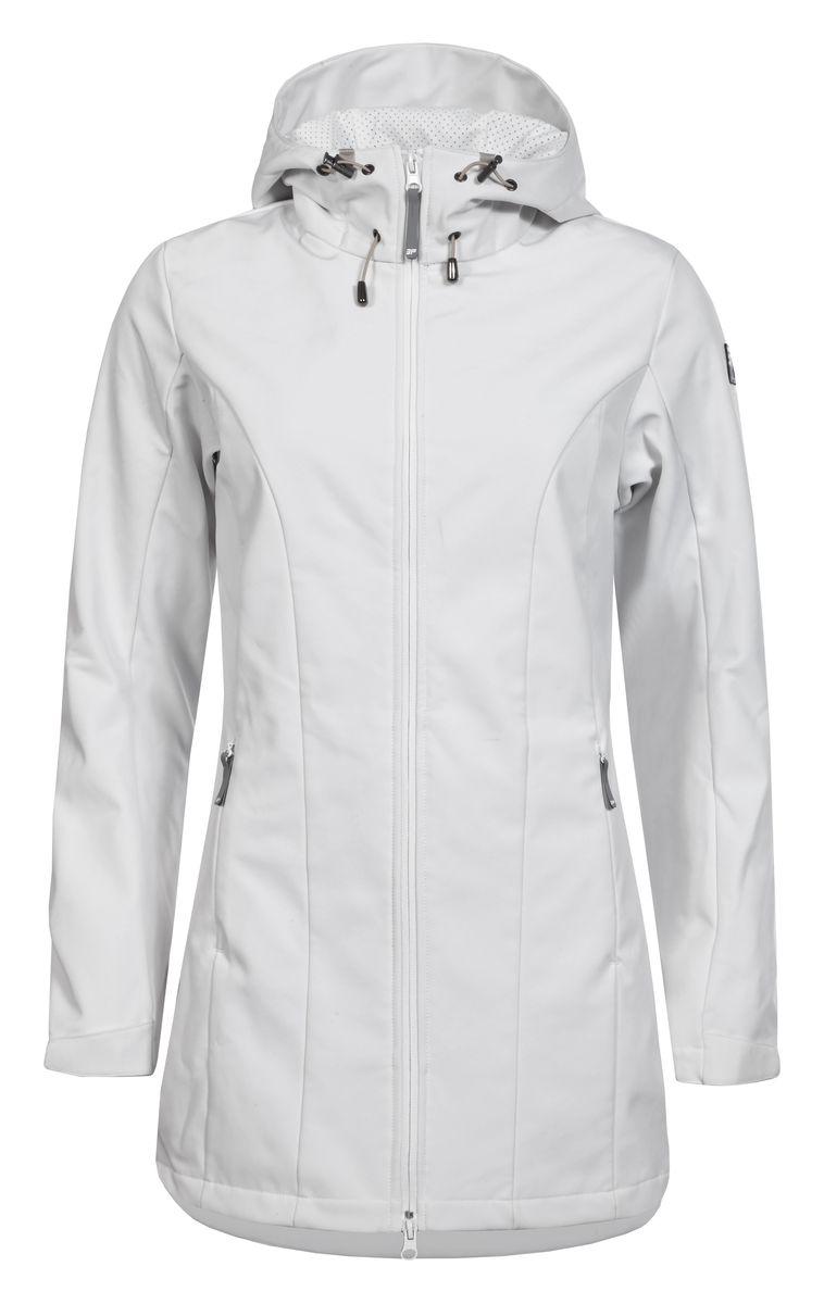 Куртка754850682IVЖенская куртка Icepeak выполнена из качественного полиэстера. Модель с длинными рукавами застегивается на застежку-молнию. Изделие дополнено капюшоном и двумя врезными карманами на молниях.