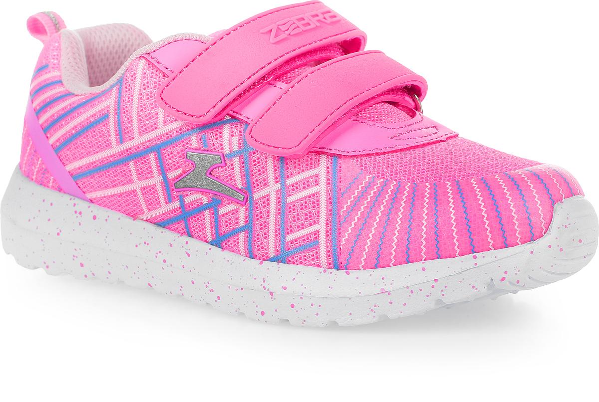 Кроссовки для девочки Зебра, цвет: розовый. 11616-9. Размер 3511616-9Стильные кроссовки от Зебра выполнены из дышащего текстиля. На ноге модель фиксируется с помощью двух ремешков на липучках. Внутренняя поверхность из текстиля комфортна при движении. Стелька выполнена из натуральной кожи и дополнена супинатором, который обеспечивает правильное положение ноги ребенка при ходьбе, предотвращает плоскостопие. Подошва с рифлением обеспечивает идеальное сцепление с любыми поверхностями.