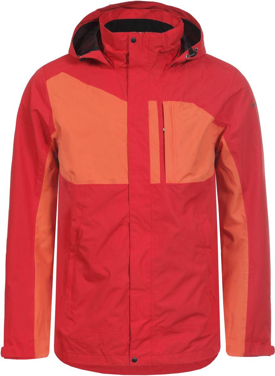 Куртка756235577IVT_355Мужская куртка с подкладкой Icepeak выполнена из качественного полиэстера. Модель с длинными рукавами застегивается на застежку-молнию и планку с кнопками. Изделие дополнено капюшоном и двумя внешними карманами.